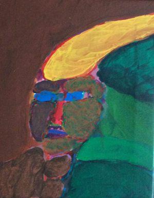 Kopf, Acryl auf Leinwand, 1983