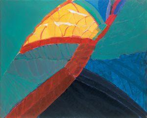 Baum Figur Vogel, Acryl auf Leinwand, 1985