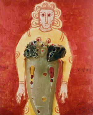 Eva, Polaroidtransformation auf Alu, 2009