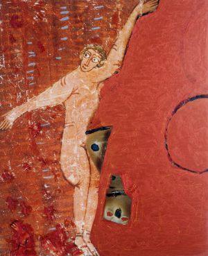 Freischwimmen, Polaroidtransformation auf Alu, 2009