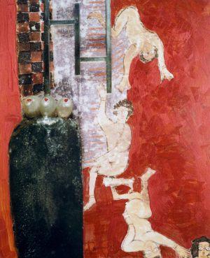 Grenze, Polaroidtransformation auf Alu, 2009