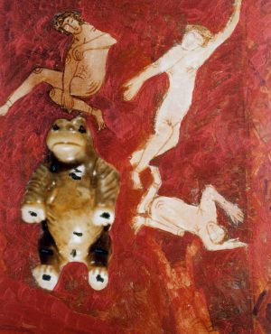 Tanz, Polaroidtransformation auf Alu, 2009