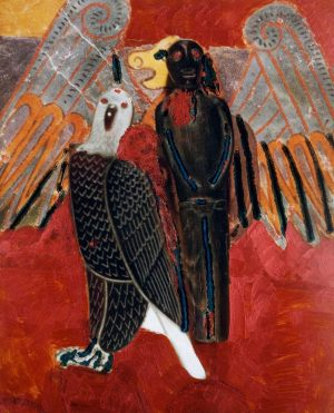 Weltadler, Polaroidtransformation auf Alu, 2009