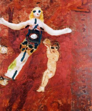 Zuneigung, Polaroidtransforamtion auf Alu, 2009