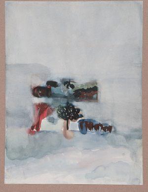 Bäume, Aquarell, 1961
