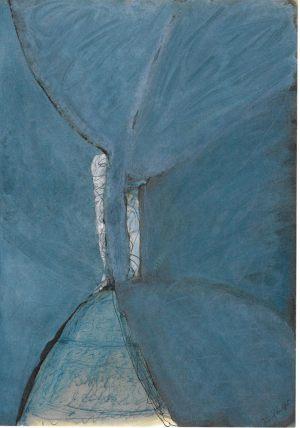 Baumfigur, Aquarell, 1986