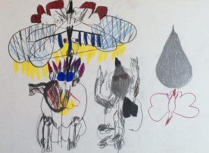Meister der Lüfte, Farbstift und Bleistift, 1963