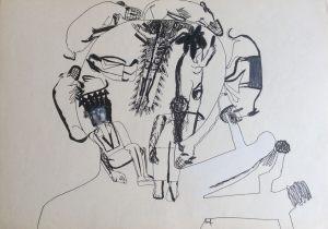 Sieger, Farbstift auf Papier, 1967