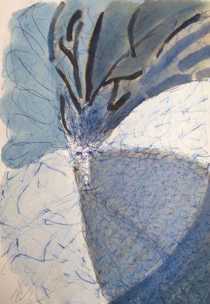 Baum, Tusche, 1986