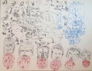 Cannibals, Tusche, 1969