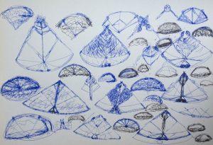 Pyramidenhueter, Tusche, 1978