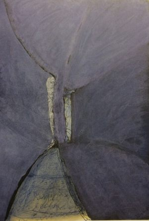 Baumfigur, Gouache auf Papier, 1986