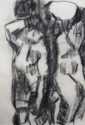 Kariathyden, Kohle auf Papier, 1962