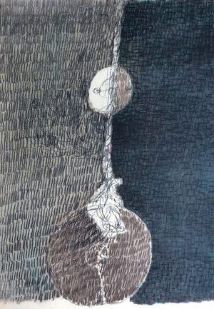 Erdball, Kohle auf Bütten, 1975