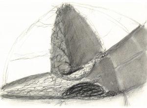 Für Grosses Boot, Kohle auf Bütten, 1986