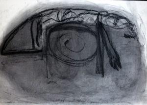 Spirale, Kohle auf Bütten, 1989