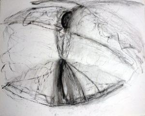 Derwish, Kohlezeichnung, 1991