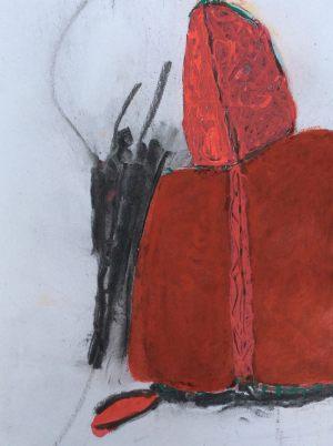 Begegnung, Kohle und Gouache, 2014