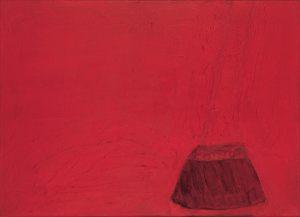 Feuer Figur, Oel auf Leinwand, 1990