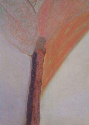 Im Baum, Pastell auf Bütten, 1988