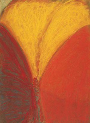 Flügel, Pastell auf Bütten, 1992