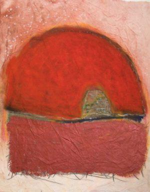 Huegelhaus, Pastell auf Bütten, 2015