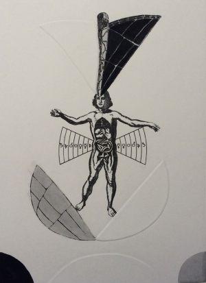 Acrobat, Radierierung, 1983