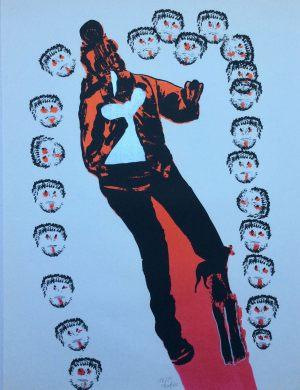 Spaziergänger, Handsiebdruck, 1967