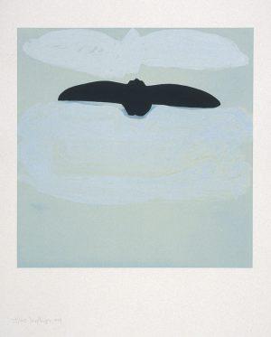 Luft, Handsiebdruck, 1990