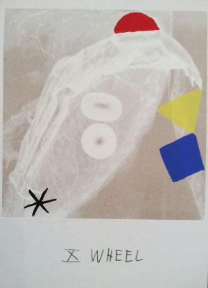 Gluecksrad, Tarot, Handsiebdruck auf Karton, 1988