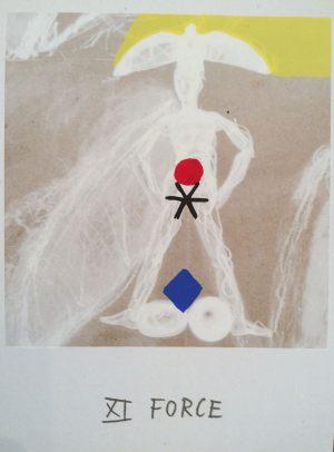 Kraft, Tarot, Handsiebdruck auf Karton, 1988
