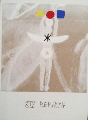 Geburt, Tarot, Handsiebdruck auf Karton, 1988