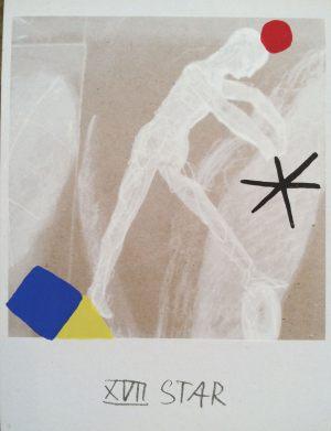 Stern, Tarot, Handsiebdruck auf Karton, 1988