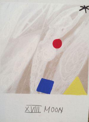 Mond, Tarot, Handsiebdruck auf Karton, 1988