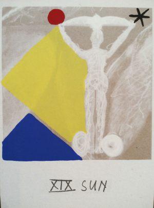 Sonne, Tarot, Handsiebdruck auf Karton, 1988