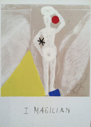 Magier, Tarot, Handsiebdruck auf Karton, 1988