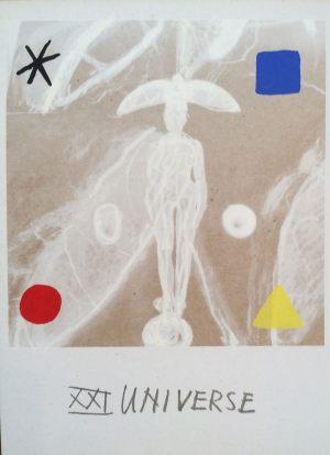 Universium, Tarot, Handsiebdruck auf Karton, 1988
