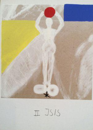 Isis, Tarot, Handsiebdruck auf Karton, 1988