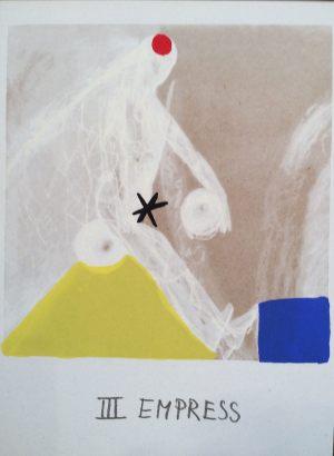 Herrscherin, Tarot, Handsiebdruck auf Karton, 1988