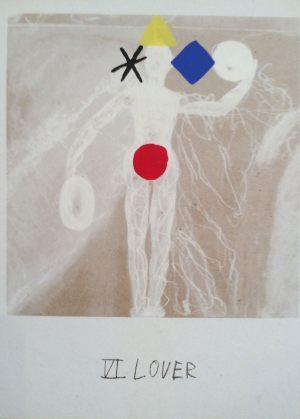 Liebende, Tarot, Handsiebdruck auf Karton, 1988