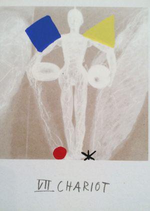 Wagen, Tarot, Handsiebdruck auf Karton, 1988