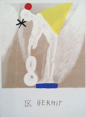 Eremit, Tarot, Handsiebdruck auf Karton, 1988